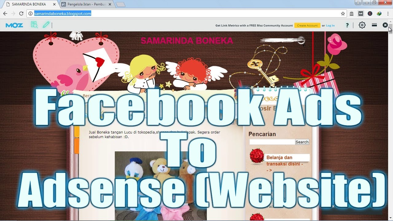 Cara Mempromosikan Mengiklankan Situs Website Blog Melalui Facebook Ads Youtube