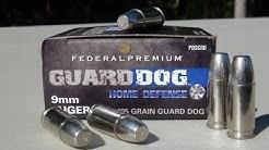Federal Guard Dog 9mm 105 gr EFMJ AMMO TEST