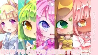 【Tutorial】How To Color Anime Eyes ♥ Paint Tool SAI