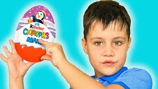 Peek a Boo Song with Kinder Surprise Toys