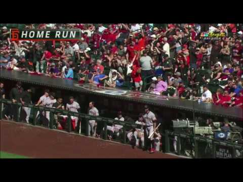 SF@ARI: Bumgarner hits two homers on Opening Day