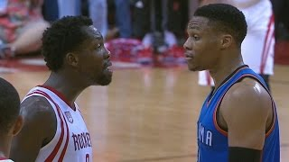Rockets Finish Thunder! Beverley and Westbrook Trash Talking!