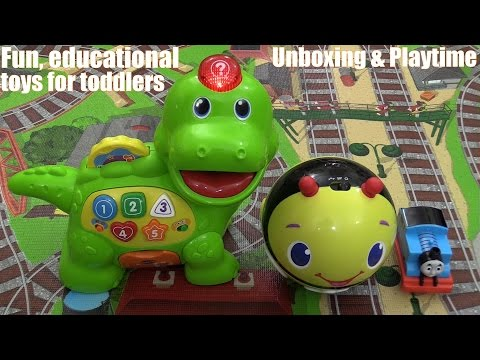 Thomas the Tank Engine Playmat, Interactive Dinosaur Toy and Bumblebee Ball Playtime