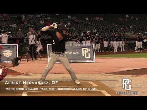 Albert Hernandez Prospect Video, OF, Monsignor Edward Pace High School Class of 2020