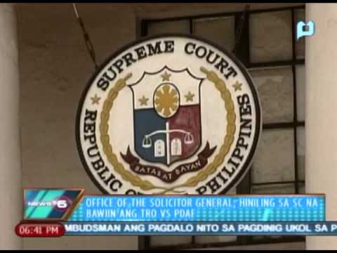 News@6: Office of the Solicitor-General, hiniling na bawiin ang TRO vs PDAF