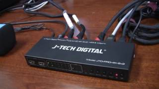 J-Tech Digital ® ProAV ® Ultra HD 4k 6x2 HDMI Matrix supports PIP, ARC, CEC function, HDCP Compliant