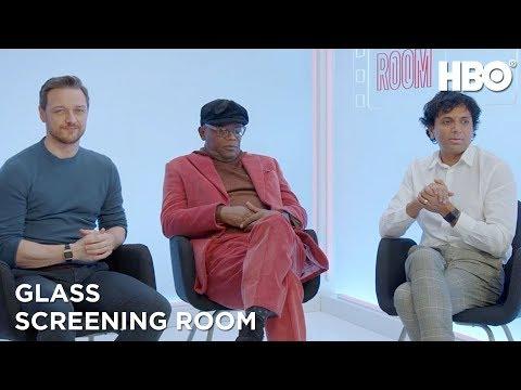 Samuel L. Jackson, M. Night Shyamalan & James McAvoy on Glass (2019 Movie) | HBO