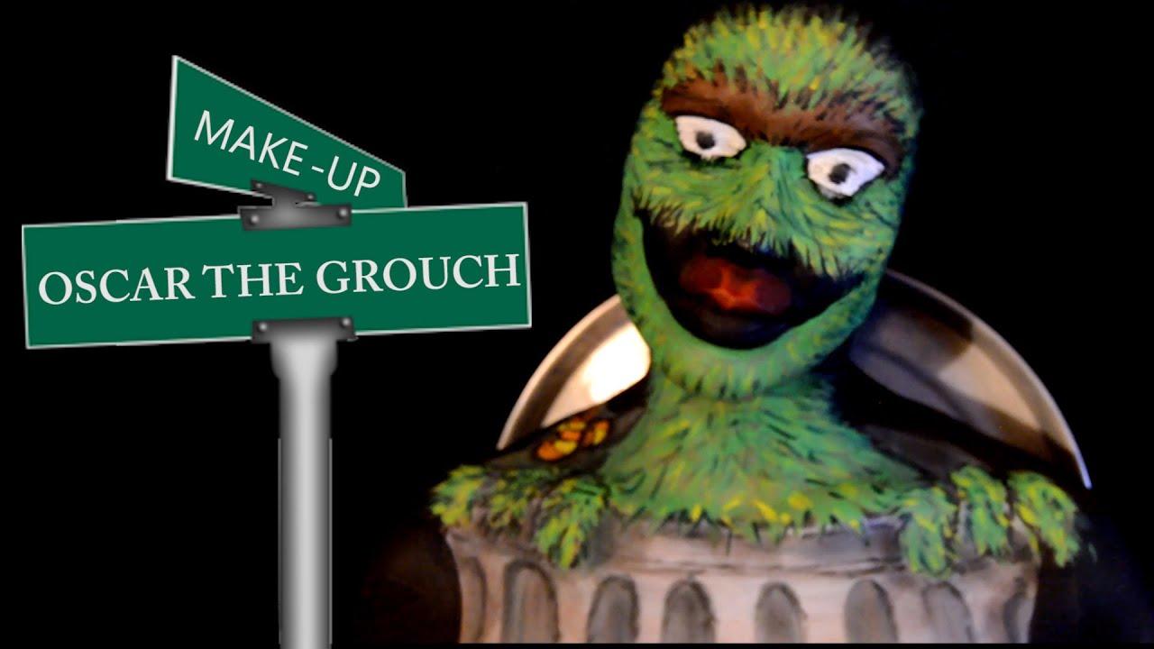 Oscar The Grouch Makeup From Sesame Street