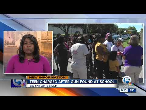 Student found with gun at Boynton High School arrested