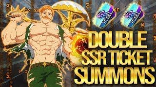 LUCK AS STRONG AS ESCANOR?! Double SSR Ticket Summons! Seven Deadly Sins Grand Cross