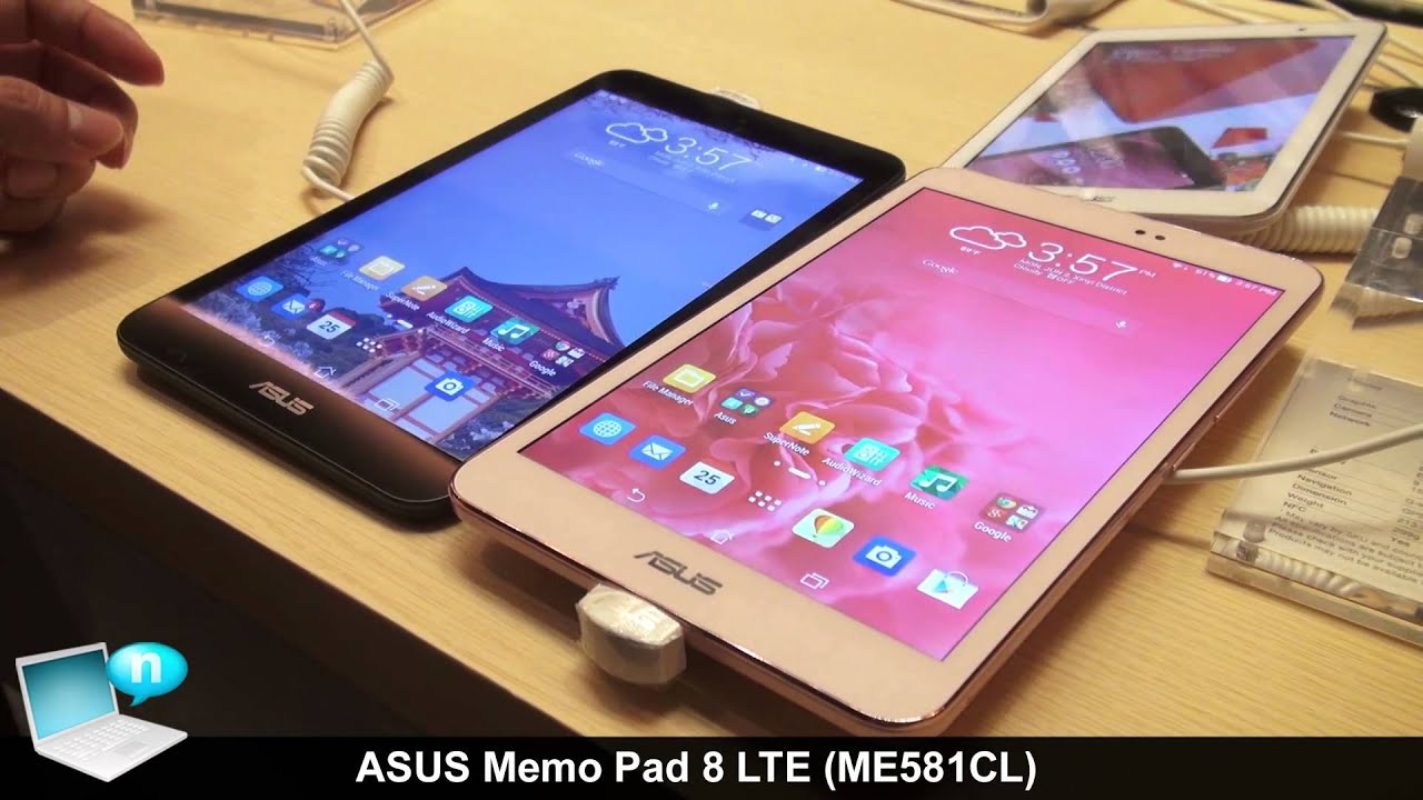 Asus Memo Pad 8 ME581CL PC Connection Videos - Waoweo