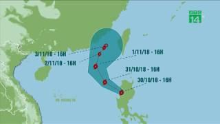 Bão số 7 giảm cấp, hướng lên phía Đài Loan, Trung Quốc | VTC14