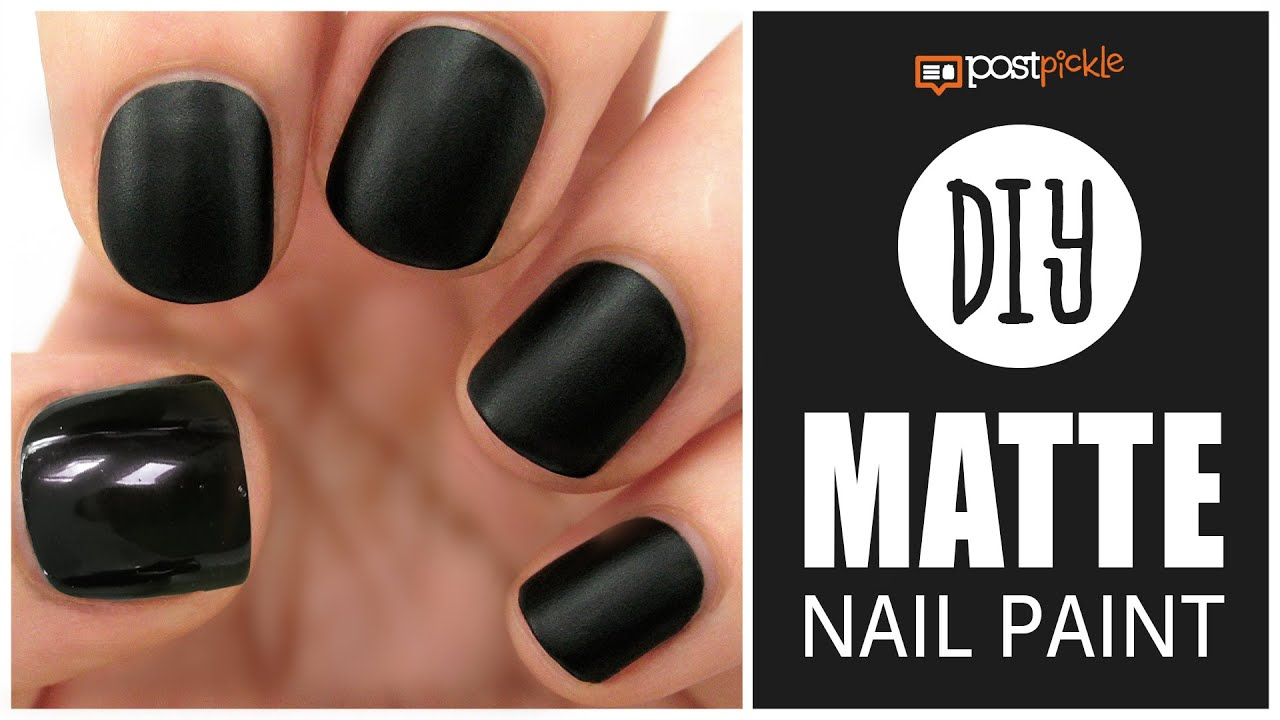 DIY - Matte Your Glossy Nail Polish - YouTube