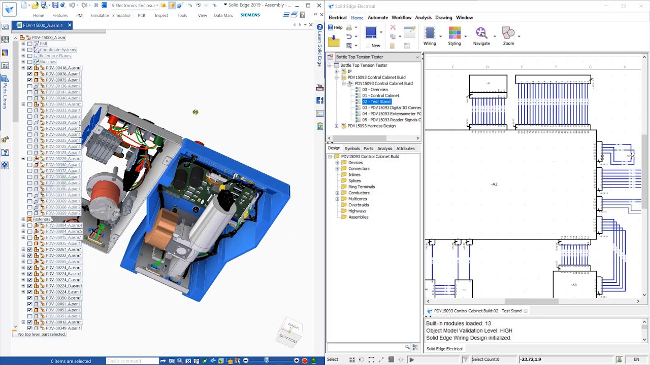 wiring and harness design in solid edge 2019