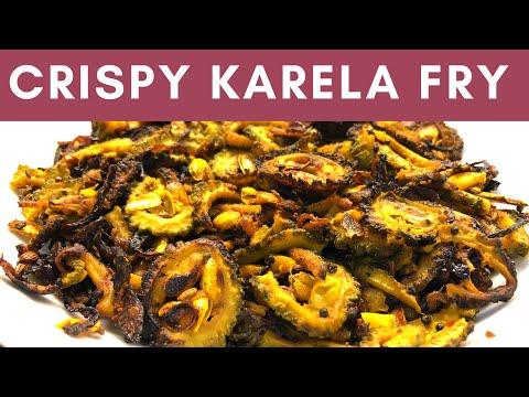 Crispy karela fry recipe   कुरकुरे करेला   bitter gourd fry   करेला फ़्राई। Yummy India's kitchen