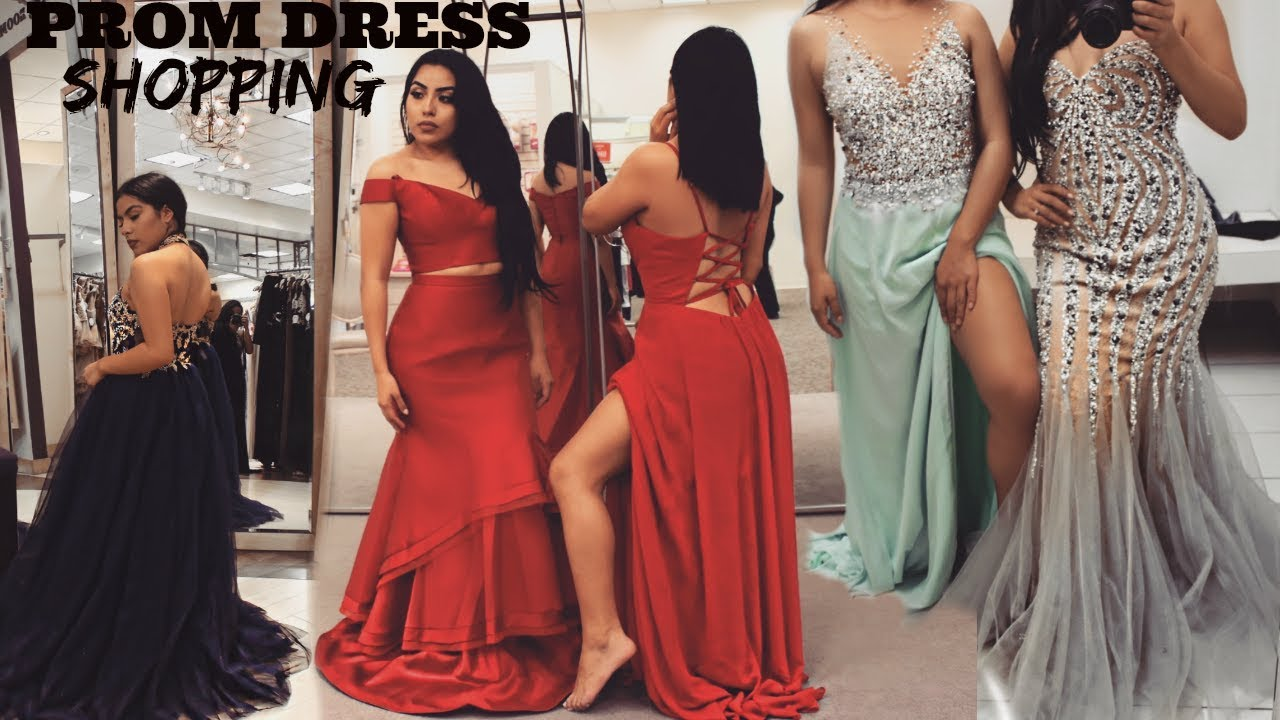 PROM DRESS SHOPPING 2018 | WHERE TO FIND THE PERFECT DRESS - YouTube