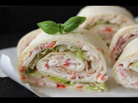 How To Make Cream Cheese And Turkey Tortilla Rolls - By One Kitchen Episode 233