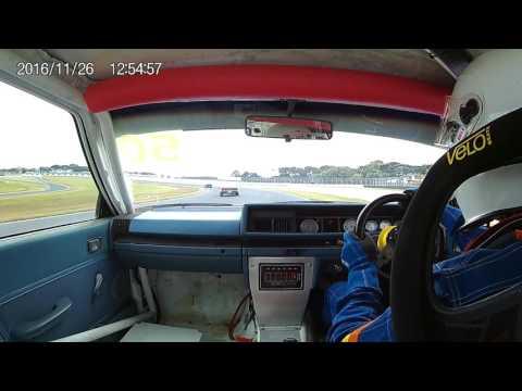 David Perry Nissan Bluebird 50 Phillip Island Nov 2016 Race 1 IP Nationals