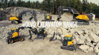 The Volvo Construction Equipment Excavator range