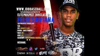 Felix Santana SS 2019 Class from (Josue Herrera Baseball Academy) Date video 18.02.2019