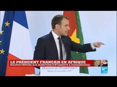 Macron à Ouagadougou : les moments cultes