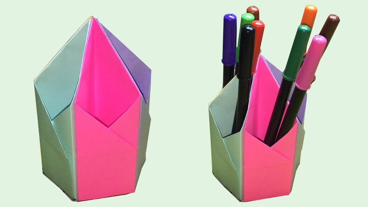 How to make a pen stand pen holder diy paper pencil holder how to make a pen stand pen holder diy paper pencil holder pencil stand do it yourself solutioingenieria Choice Image