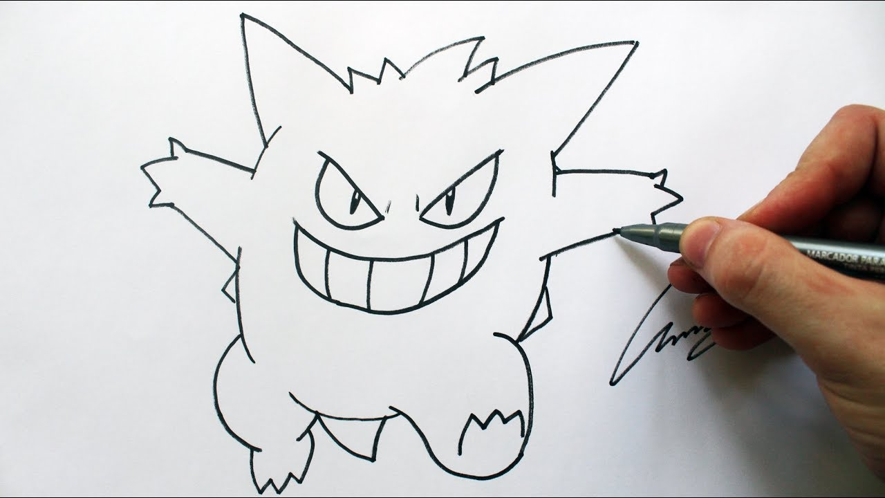Como Desenhar Um Gengar Pokemon How To Draw Gengar Pokemon