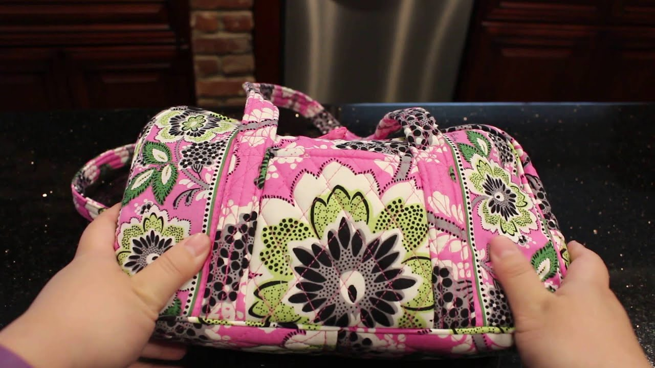 7f93823d79 Vera Bradley 100 Handbag Review - Priscilla Pink 2016 - YouTube
