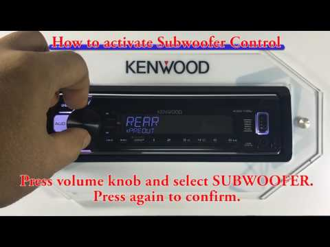 KDC 110U How to activate Subwoofer Control