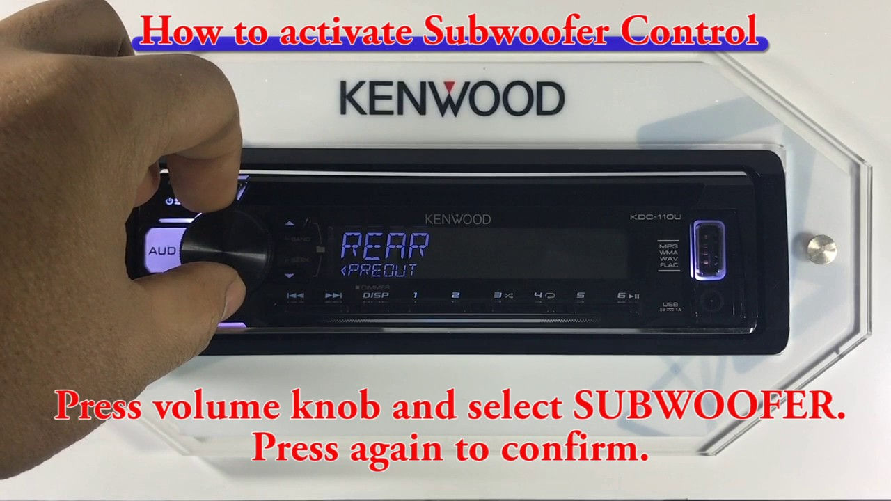 Kdc 110u How To Activate Subwoofer Control Youtube