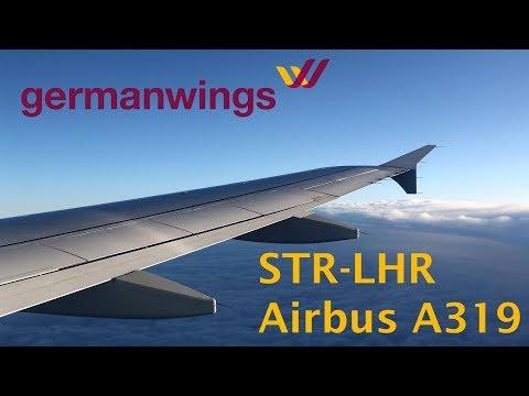 Germanwings A319 flight Stuttgart - London Heathrow trip report