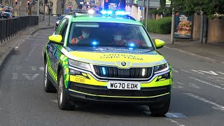 INSANE HOWLER SIREN!! CRITICAL CARE Doctor, Police Cars & Fire Engines Responding!