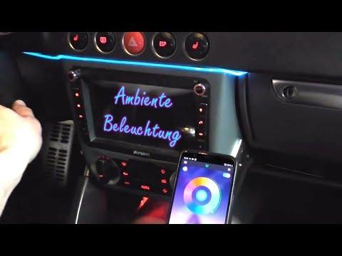 Audi TT 8N LED Ambientebeleuchtung Von Letronix Einbauen Nachrüsten | Schrauba