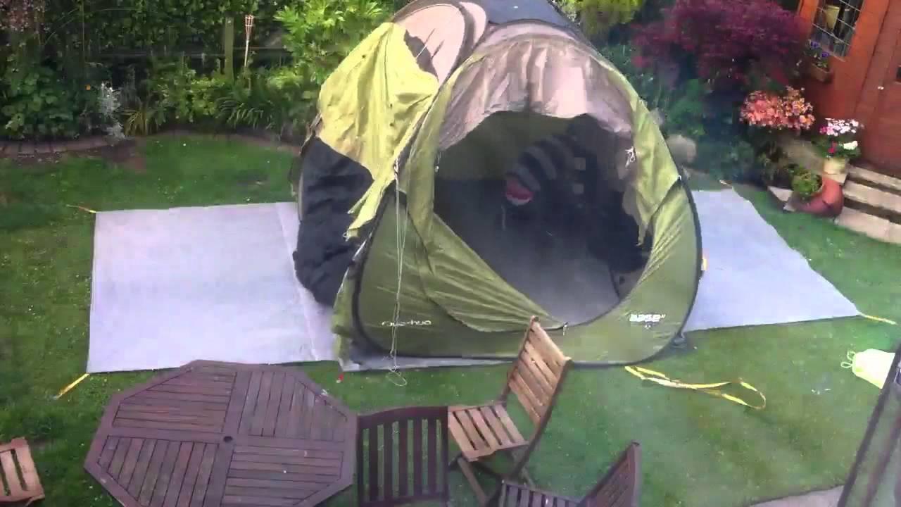 Pitching a Decathlon Quechua 4.2 seconds Pop-Up tent in 10 seconds! - YouTube & Pitching a Decathlon Quechua 4.2 seconds Pop-Up tent in 10 seconds ...