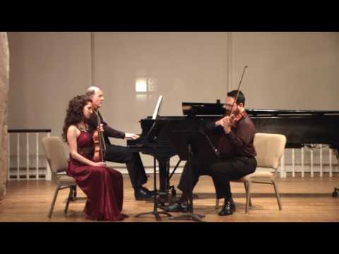 MAX BRUCH - Four Pieces from op. 83, for violin, viola and piano