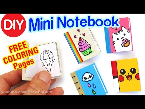 how-to-make-a-mini-notebook-easy---cute-diy-craft