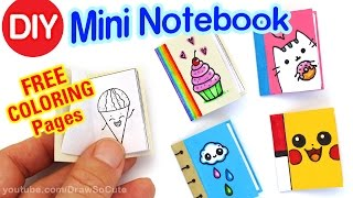 How to Make a Mini Coloring | Notebook step by step Super Easy - Cute DIY Craft