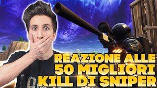 REAZIONE alle 50 KILL PIU' ASSURDE con lo SNIPER - 392 METRI NO SCOPE. | Fortnite ITA