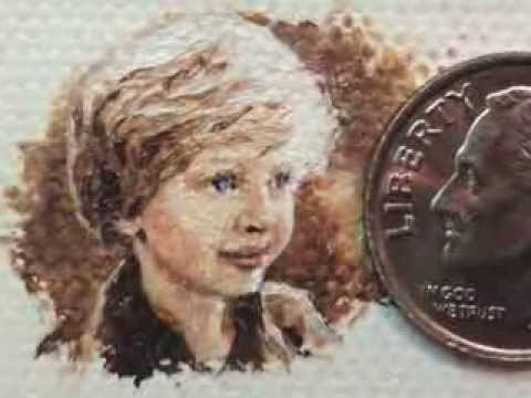 Painting a Dime-Sized Oil Portrait in One Minute (TIME-LAPSE)