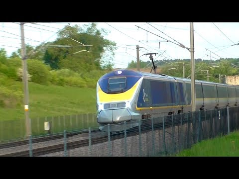 High Speed Trains at Boxley Tunnel, HS1 - 07/01/18 & 16/05/18