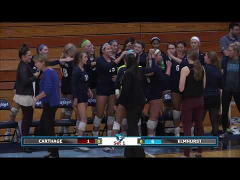 2016-09-28 Elmhurst College Volleyball vs Carthage College
