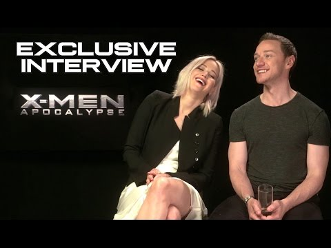 Jennifer Lawrence & James McAvoy Exclusive XMEN: APOCALYPSE  2016 JoBlo.com HD