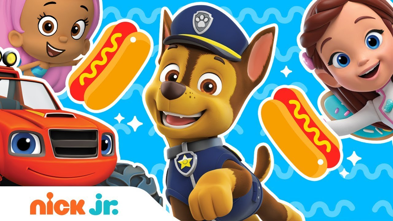 Summer Fun Hot Dog Song 🌭 w/ PAW Patrol, Dora the Explorer, Blaze & More!    Nick Jr