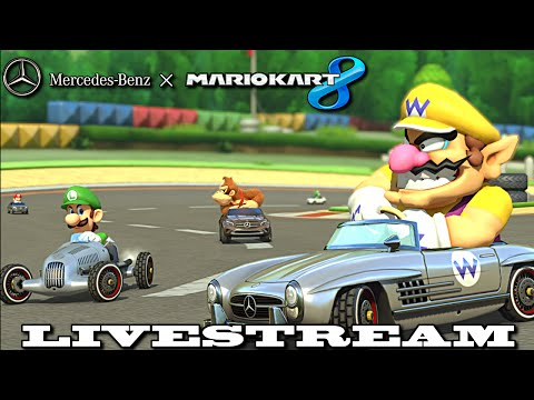Mario Kart 8 x Mercedes-Benz Livestream (8-27-14) - Wii U