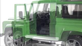 Видео обзоры Bruder Land Rover Defender с прицепом-коневозкой