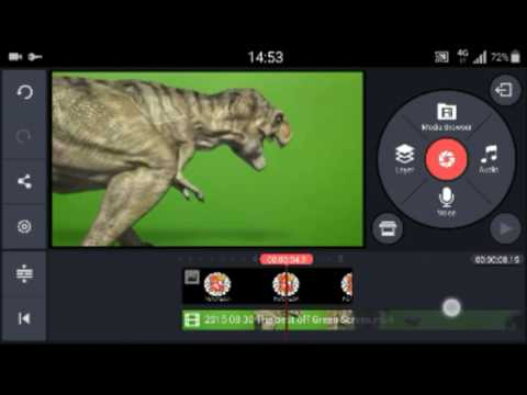 Video Editor, Cara menghilangkan GreenScreen di Android || KINEMASTER MOD chroma key