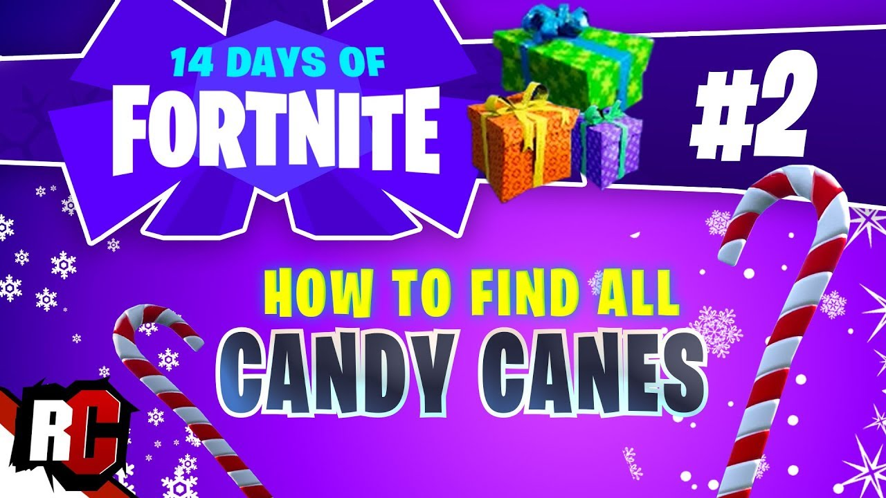 14 Days Of Fortnite Day 2 Visit Giant Candy Canes Candy Cane