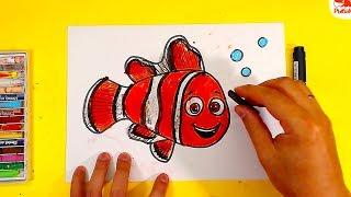 """Как нарисовать НЕМО из мультика """"В поисках Немо"""" / Уроки рисования для детей"""