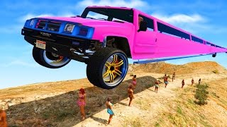 THE LONGEST CAR IN GTA 5?! (GTA 5 Fails, Funny Moments Compilation)