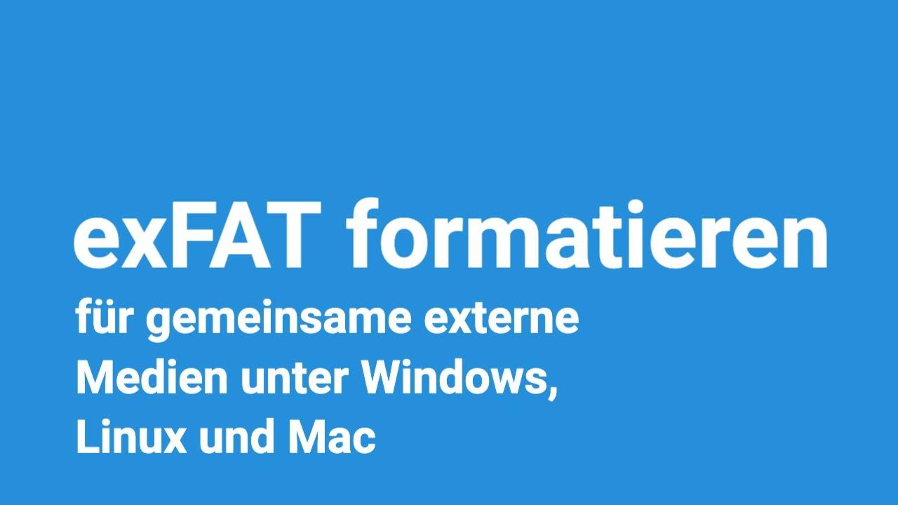 exFAT formatieren